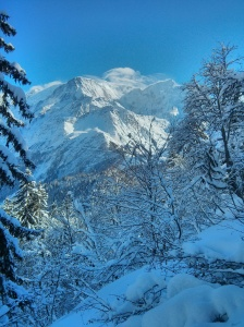 Gratuitous shot of Mont Blanc. What an amazing view to have whilst marching 850m up a hill.
