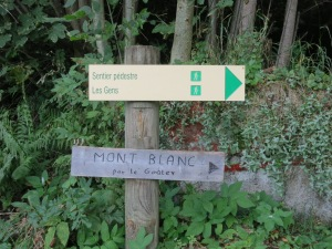 Mont Blanc via the Goutier walk. Easy! Just walk up up another 3800m!