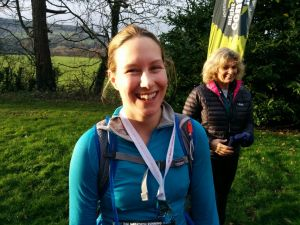 Did she try hard enough? Emma had enough energy for a massive smile after running 29 miles.