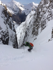 Me entering the couloir.